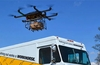 Delivery drones could take public transport to extend range
