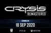 Crysis Remastered arrives on Friday, 18th Sept 2020