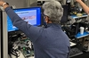Raja Koduri pictured testing Xe HPG GPU in Intel's Folsom Lab